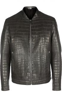 Куртка из кожи крокодила с норковой подкладкой Andrea Campagna