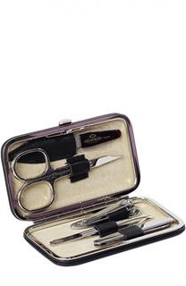 Черный маникюрный набор из 5-предметов в кожаном чехле Truefitt&Hill Truefitt&Hill