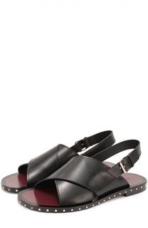 Кожаные сандалии с отделкой Rockstud Valentino