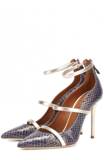 Кожаные туфли с тиснением на шпильке Malone Souliers