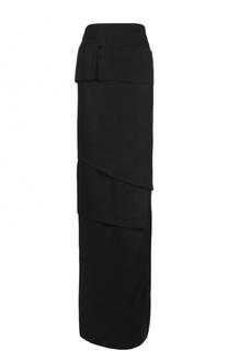 Многоярусная юбка-макси с высоким разрезом Tom Ford
