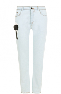 Укороченные джинсы с декоративной отделкой Fendi