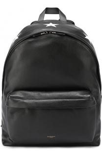 Кожаный рюкзак с контрастной отделкой Givenchy