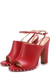 Кожаные босоножки Soul Rockstud на устойчивом каблуке Valentino