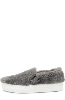 Слипоны Fur с меховой отделкой Joshua Sanders