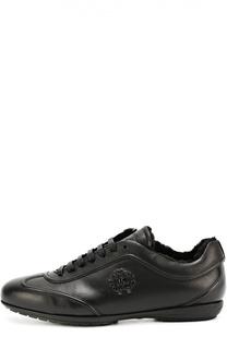 Кожаные кроссовки с внутренней меховой отделкой Roberto Cavalli