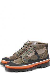 Ботинки Camouflage из текстиля с принтом Valentino
