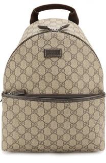 Рюкзак из канвы GG Supreme с отделкой из кожи Gucci