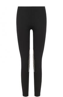 Укороченные брюки-скинни с кожаной отделкой Polo Ralph Lauren