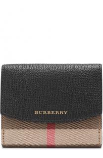 Бумажник из кожи и текстиля в клетку House Check Burberry