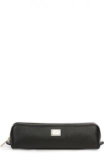 Кожаный пенал на молнии Dolce & Gabbana