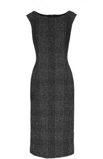 Приталенное платье без рукавов с вырезом-лодочка Escada