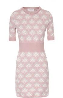 Вязаное мини-платье с коротким рукавом и цветочным принтом Tak.Ori