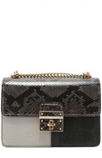 Сумка Rosalia с отделкой из кожи питона Dolce & Gabbana
