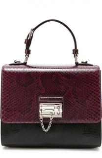 Сумка Monica с отделкой из кожи питона Dolce & Gabbana