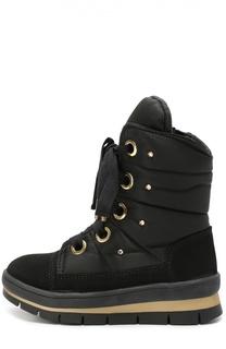 Комбинированные ботинки со стразами Jog Dog