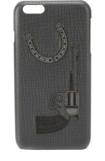 Кожаный чехол для iPhone 6 Plus с аппликацией Dolce & Gabbana