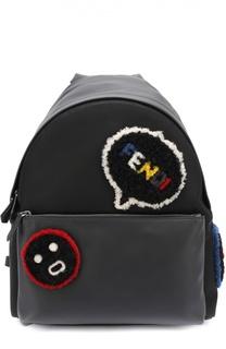 Кожаный рюкзак с меховой отделкой Fendi