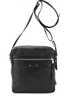 Кожаная сумка-планшет Reporter Balenciaga