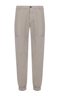 Спортивные брюки из смеси хлопка и льна с манжетами Z Zegna