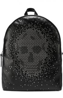Кожаный рюкзак с декоративной отделкой Alexander McQueen