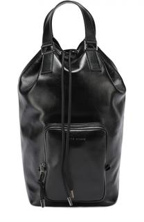 Кожаная сумка-шоппер с внешним карманом на молнии Dior