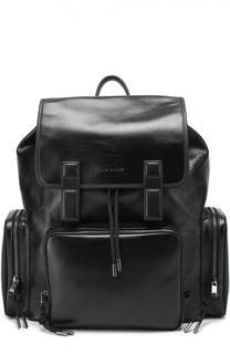 Кожаный рюкзак с внешними карманами на молнии Dior