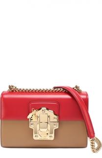 Сумка Lucia из комбинированной кожи Dolce & Gabbana