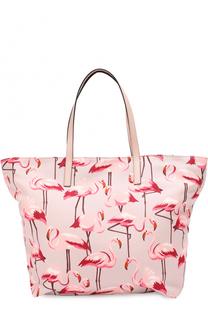 Текстильная сумка-шоппер с принтом REDVALENTINO