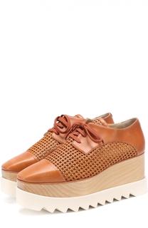 Ботинки из эко-кожи с плетением на платформе Stella McCartney