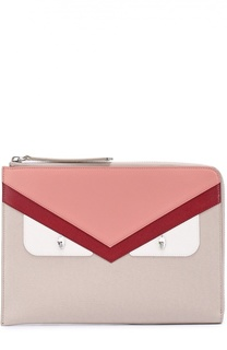 Плоский клатч с аппликацией Bag Bugs и кристаллами Fendi