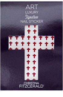 """Наклейка для ногтей """"Красный крестик"""" (96 шт) Christina Fitzgerald"""
