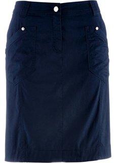 Юбка-стретч в стиле карго (темно-синий) Bonprix