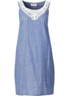 Платье с кружевом (синий) Bonprix