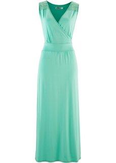 Трикотажное платье макси (нежно-бирюзовый) Bonprix