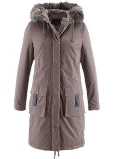 Модная длинная куртка-парка (бурый) Bonprix