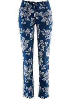 Джинсы с принтом (синий джинсовый с рисунком) Bonprix