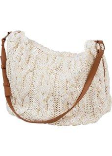 Вязаная сумка (цвет белой шерсти) Bonprix