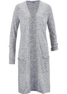 Удлиненный кардиган (дымчато-серый меланж) Bonprix