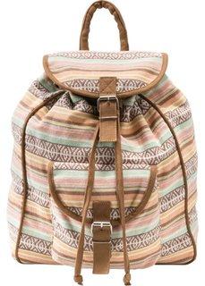 Хлопковый рюкзак (кремовый/мятный) Bonprix