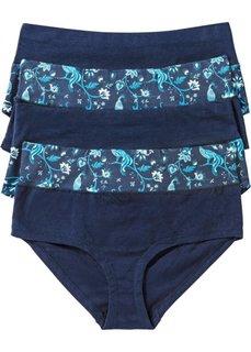 Высокие трусики-панти (4 шт.) (темно-синий с узором) Bonprix