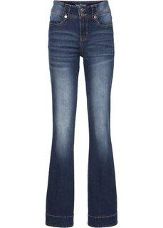 Расклешенные стрейтчевые джинсы, низкий рост (K) (темно-синий) Bonprix