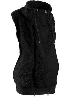 Флисовая жилетка для беременных с карманом для малыша (черный) Bonprix