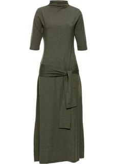Платье с эффектом запаха (темно-оливковый) Bonprix