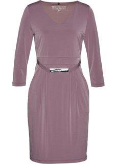 Трикотажное платье класса Премиум (фиолетовый матовый) Bonprix