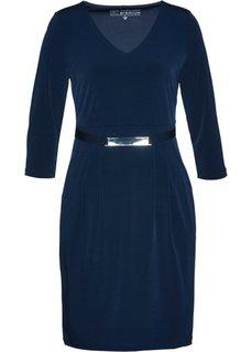 Трикотажное платье класса Премиум (темно-синий) Bonprix