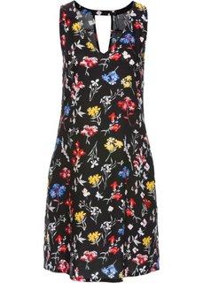 Платье с вырезом на спине (черный с рисунком) Bonprix