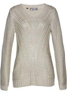 Пуловер (натуральный/серебристый) Bonprix