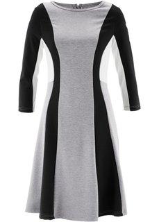 Римское платье от дизайнера Maite Kelly (серый меланж/черный/цвет белой шерсти) Bonprix