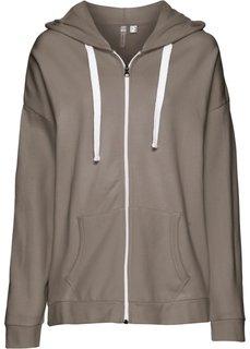 Обязательный элемент гардероба: свободный худи в стиле бойфренд (серо-коричневый) Bonprix